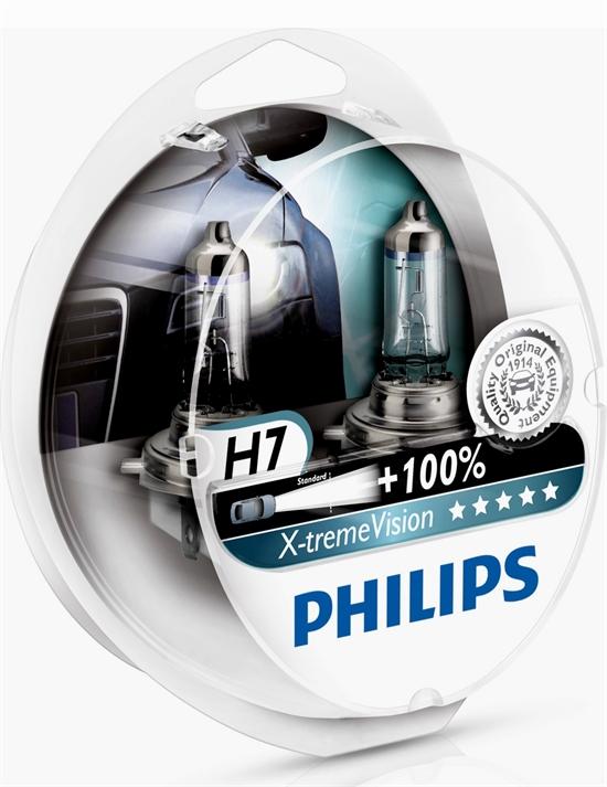 PHILIPS-H7-X-treme-Vision-100-mehr-Licht-12V-55W-LAMPEN-DUO-SET-HALOGEN