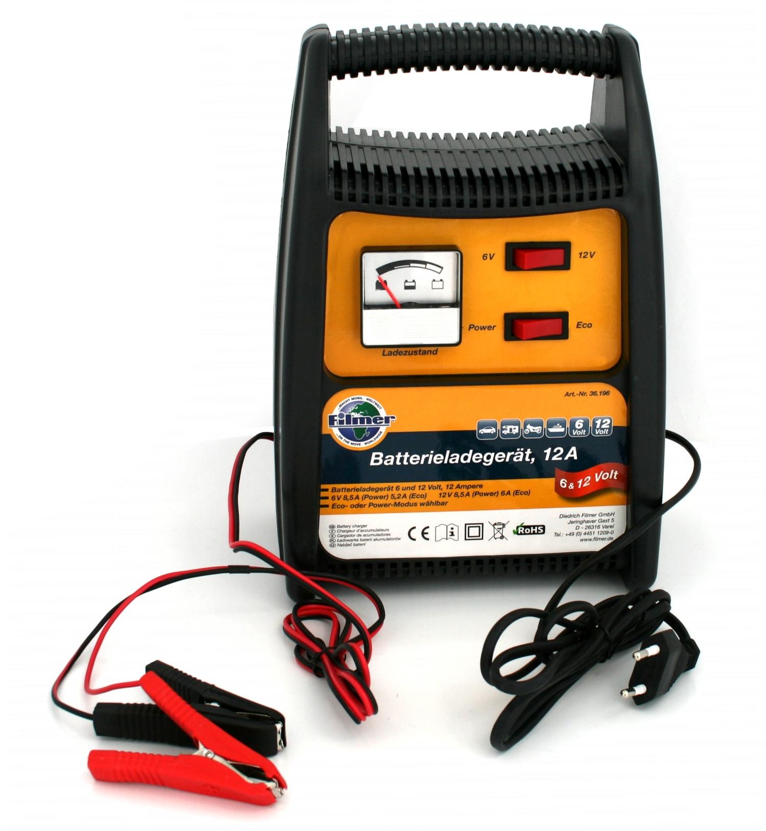 batterie ladeger t 6volt 12volt 12ampere ladeger t. Black Bedroom Furniture Sets. Home Design Ideas