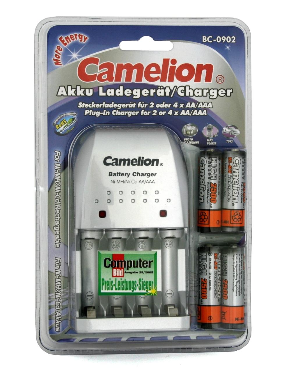 AKKU-LADEGERAT-CAMELION-BC-0902-fuer-AA-AAA-incl-4x-AKKUs-AKKU-BATTERIE