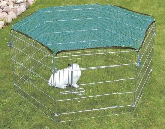 trixie freigehege set gatter mit netz f r hasen kaninchen gartengehege gitter ebay. Black Bedroom Furniture Sets. Home Design Ideas