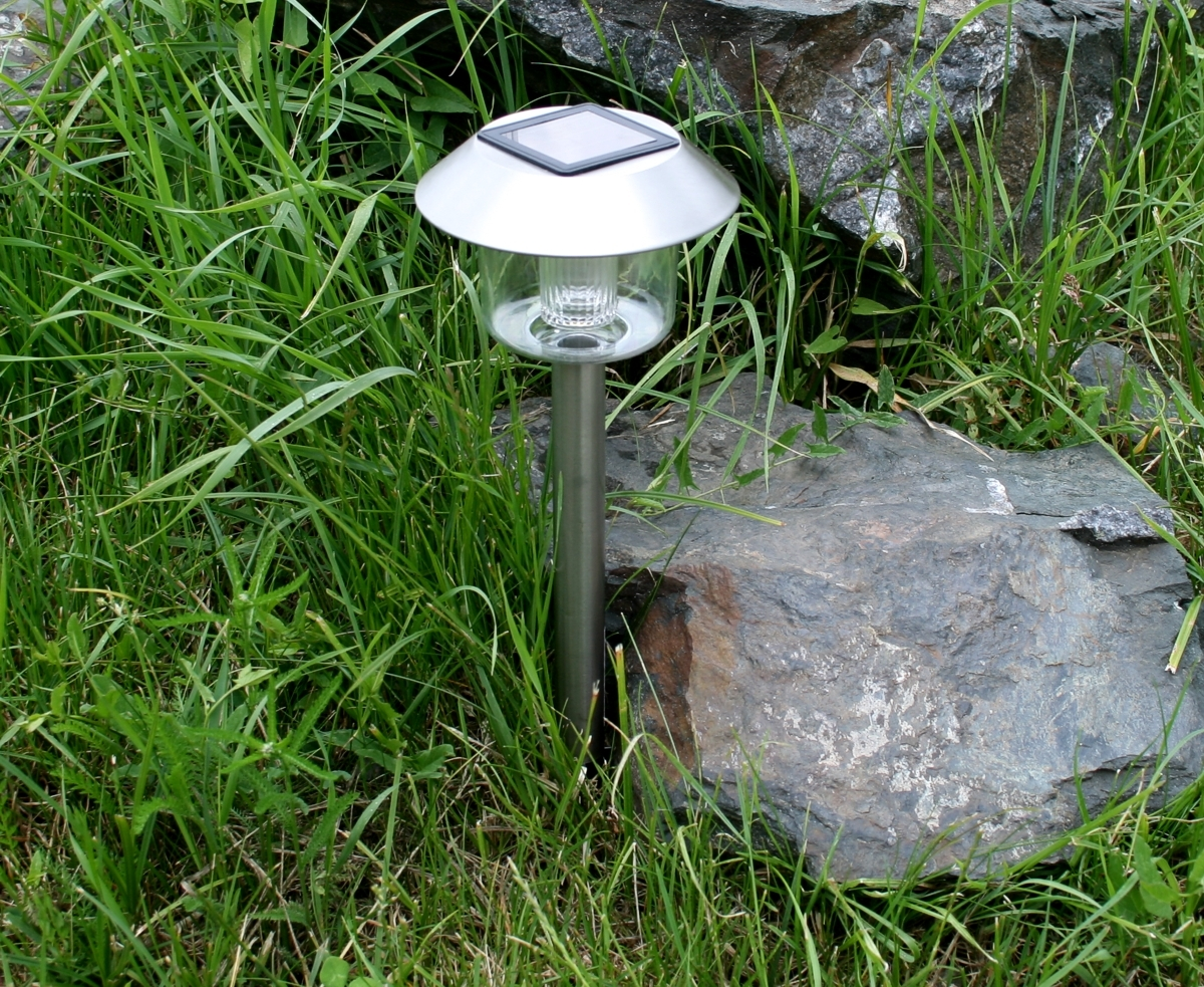4x solar led lampen set edelstahl 38cm solarleuchte garten beleuchtung lampe ebay. Black Bedroom Furniture Sets. Home Design Ideas