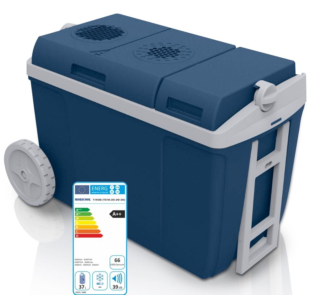 waeco mobicool k hlbox w38 ac dc thermoelektrisch 12v 230v k hlen 37 l vol ebay. Black Bedroom Furniture Sets. Home Design Ideas