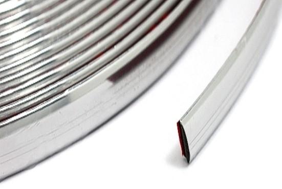 chrom leisten zierleisten 8m x 21mm flexibel 1m 1 37 selbstklebend ebay