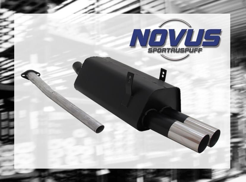 NOVUS-SPORTAUSPUFF-Gruppe-N-ESD-2x-76-mm-RL-Design-3er-BMW-E36