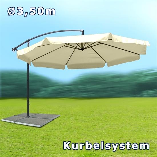 ampelsonnenschirm beige sonnenschirm schirm marktschirm faltschirm poly ebay. Black Bedroom Furniture Sets. Home Design Ideas
